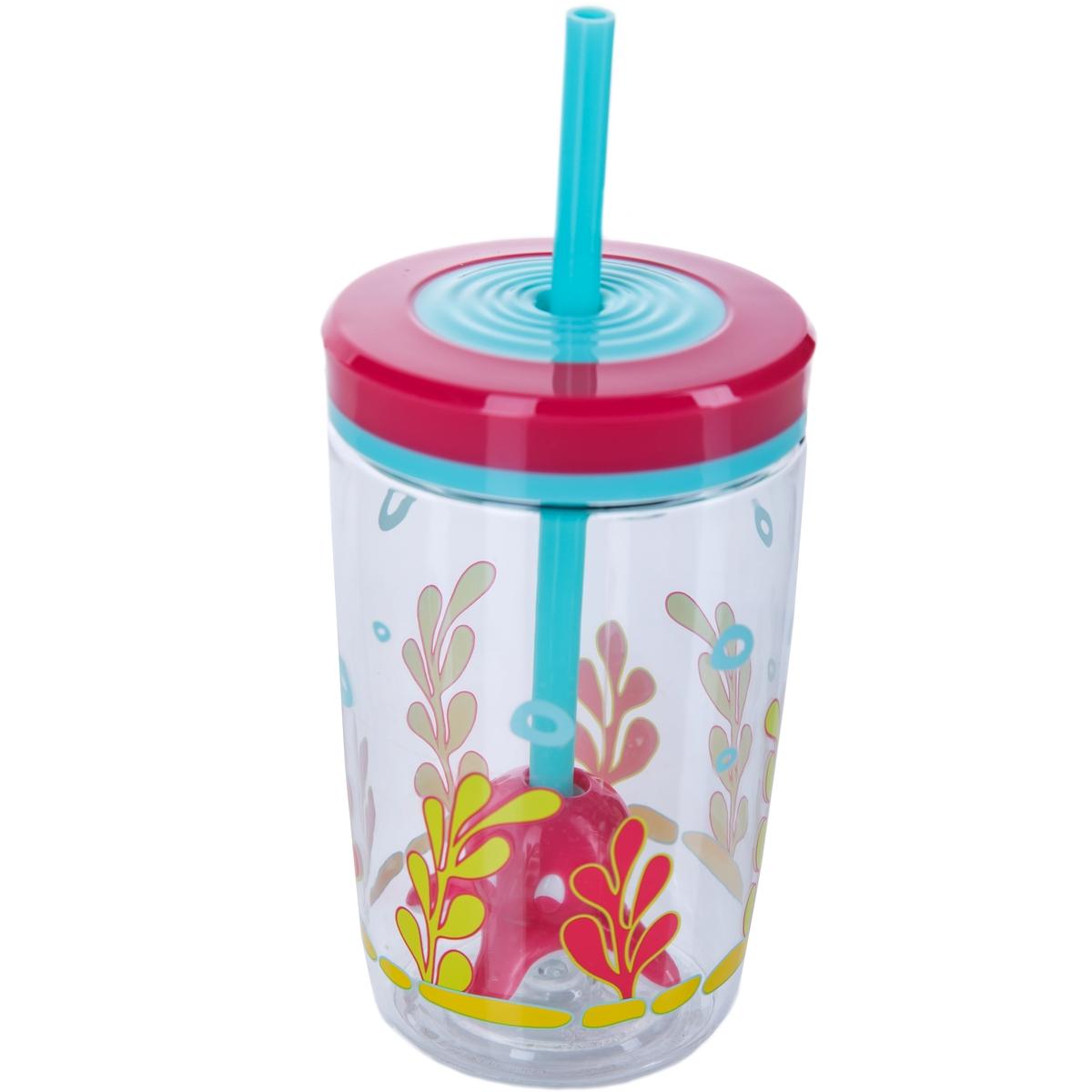 Детский стакан с соломинкой Floating straw tumbler Squid, 0.47 л (Contigo contigo0773)
