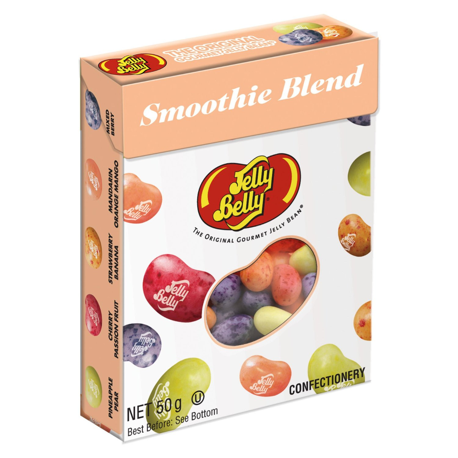Jelly Belly 79981: Конфеты ассорти со вкусами смуззи Smoothie Mix, 50 г