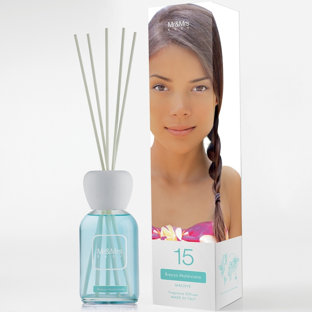 Mr&Mrs Fragrance N012602: Аромадиффузор Easy №15 Maldivian Breeze (Maldive/Мальдивы), 250 мл