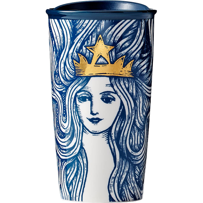 Starbucks SWFHT12: Термокружка Siren with Flowing Hair Traveler, 0.36 л