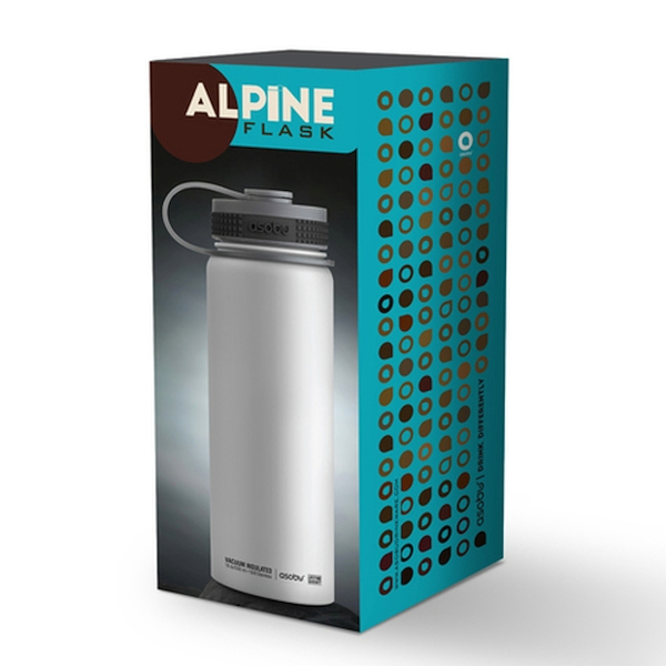 Термобутылка Alpine flask синяя, 0.53 л (Asobu TMF2 blue)